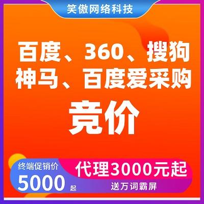 四网竞价+百度爱采购CPC+万词霸屏3000元-5000元